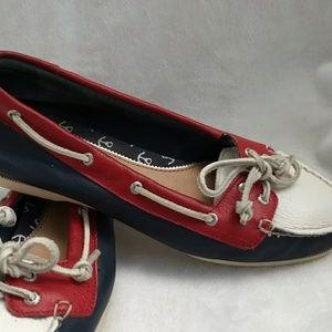 Sperry Top-Sider Size 7 Red White Blue Leather